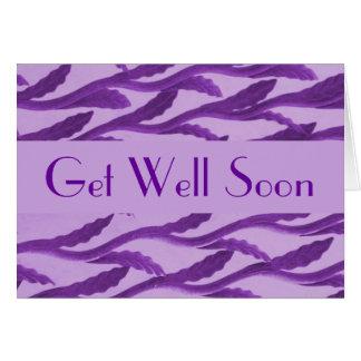Consiga las ramas pronto púrpuras bien tarjeta pequeña
