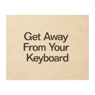 Consiga lejos de su teclado cuadro de madera