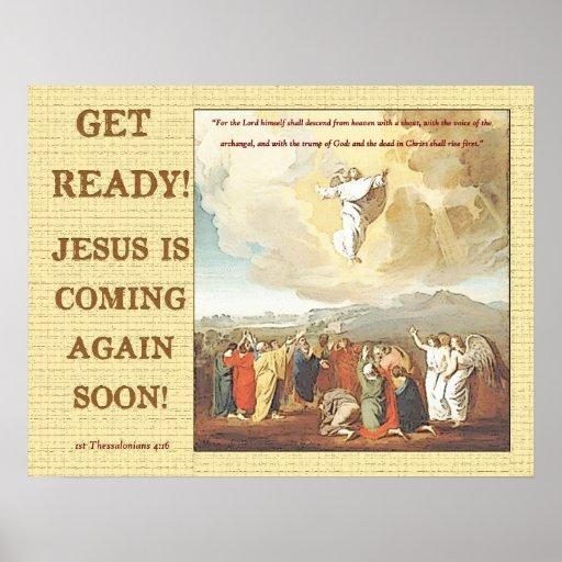 ¡Consiga listo! ¡Jesús está viniendo otra vez pron Poster