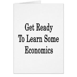 Consiga listo para aprender una cierta economía tarjeta de felicitación