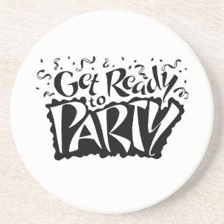Consiga listo para ir de fiesta posavaso para bebida