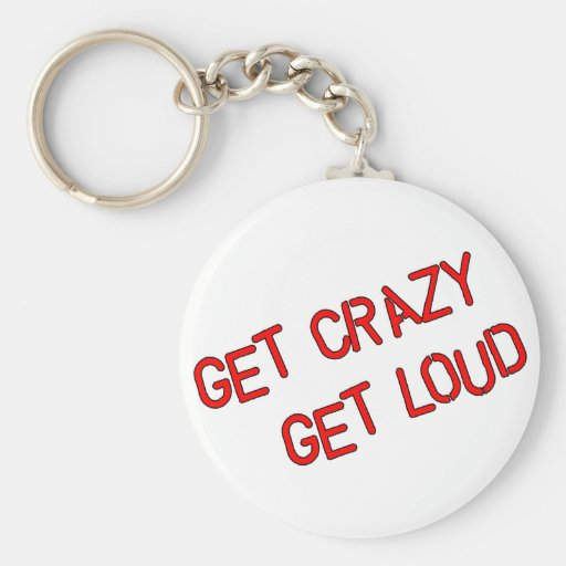 Consiga loco consiguen ruidosamente llaveros personalizados
