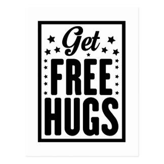 Consiga los abrazos libres tarjetas postales