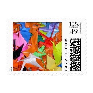 Consiga los deseos bien - mil grúas de papel sello