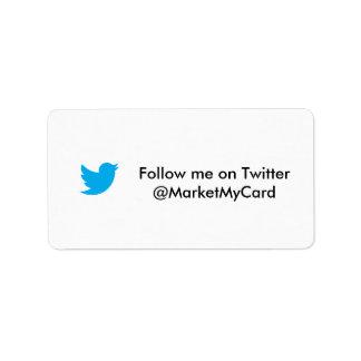 Consiga más seguidores en gorjeo etiquetas de dirección