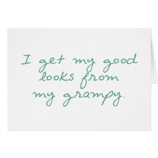 Consiga mis buenas miradas de Grampy Tarjeta De Felicitación
