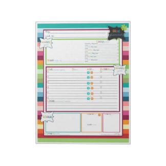 Consiga organizado con una libreta del planificado blocs