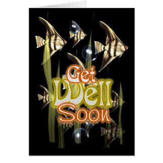 Consiga pronto el Angelfish bien Tarjeta De Felicitación