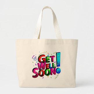 Consiga pronto el texto bien del confeti bolsa tela grande