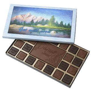 Consiga pronto la caja bien del chocolate del arte