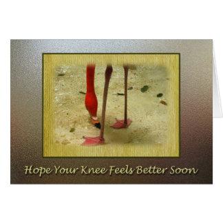 Consiga pronto la cirugía bien de la rodilla tarjeta