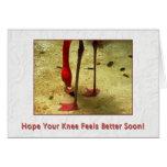 Consiga pronto la cirugía bien de la rodilla tarjetas