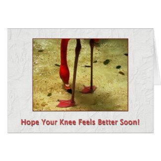 Consiga pronto la cirugía bien de la rodilla tarjeta de felicitación