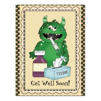 Consiga pronto la postal bien del saludo del monst