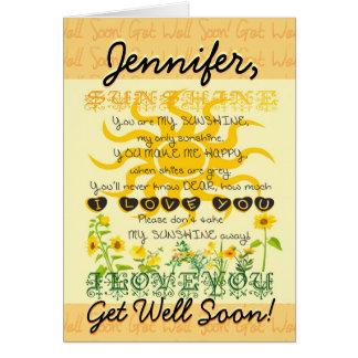 Consiga pronto la sol bien tarjeta de felicitación