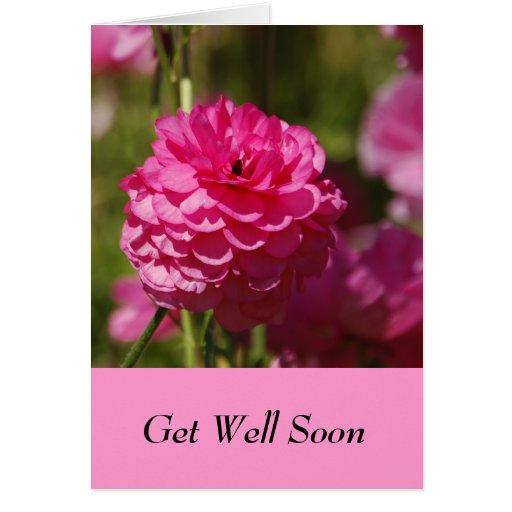 Consiga pronto la tarjeta bien con diseño floral r