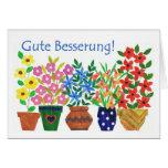 Consiga pronto la tarjeta bien - saludo alemán
