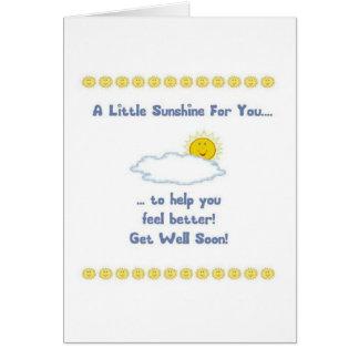 Consiga pronto la tarjeta de felicitación bien