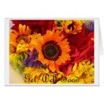 Consiga pronto - las flores bien de la caída tarjetas