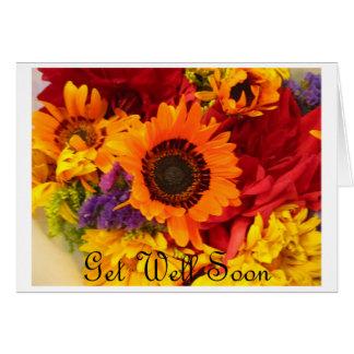 Consiga pronto - las flores bien de la caída tarjeta pequeña