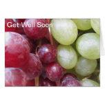 Consiga pronto las uvas bien tarjeta de felicitación