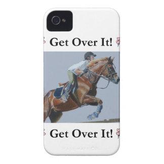 ¡Consiga sobre él! Caja intrépida de Blackberry iPhone 4 Case-Mate Cárcasas