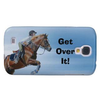 ¡Consiga sobre él! Caso vivo de HTC del caballo Funda Para Galaxy S4