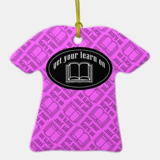 Consiga su aprenden en el libro de escuela adorno para reyes