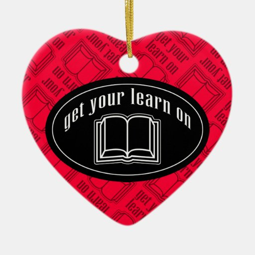 Consiga su aprenden en el libro de escuela ornamento para arbol de navidad