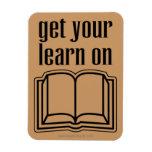 Consiga su aprenden en el libro de escuela iman rectangular
