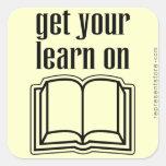 Consiga su aprenden en el libro de escuela colcomanias cuadradas