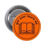 Consiga su aprenden en el libro de escuela pin redondo 5 cm