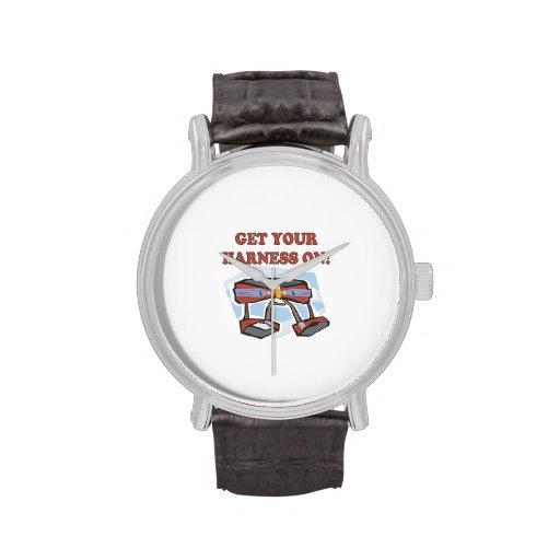 Consiga su arnés encendido relojes de mano