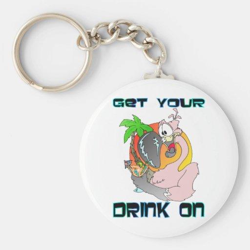 Consiga su bebida encendido llavero