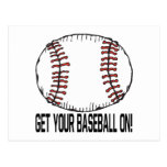 Consiga su béisbol encendido postal