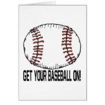 Consiga su béisbol encendido tarjeta