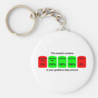 ¡Consiga su cantidad diaria de calidad del estudia Llavero Redondo Tipo Pin