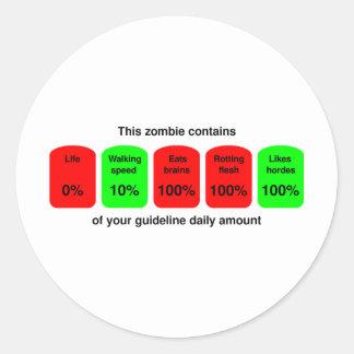 ¡Consiga su cantidad diaria de calidad del zombi Etiqueta