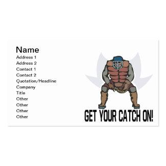 Consiga su captura encendido tarjetas de visita