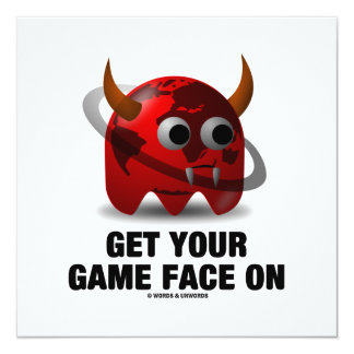 Consiga su cara del juego en (el mundo del diablo invitación 13,3 cm x 13,3cm