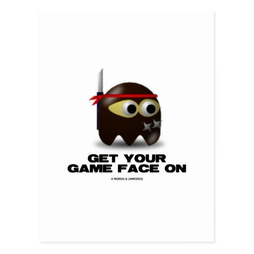 Consiga su cara del juego en (Ninja) Postales