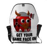 Consiga su cara del juego en (Viking con el destra Bolsa Messenger