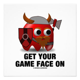 Consiga su cara del juego en Viking Invitaciones Personales