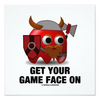 """Consiga su cara del juego en (Viking) Invitación 5.25"""" X 5.25"""""""