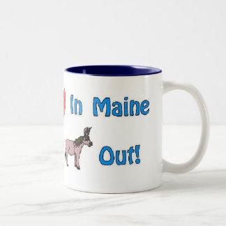 Consiga su corazón en MaineQuote por la viola Taza De Café De Dos Colores