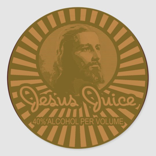 Consiga su Crunk en estilo del jugo de Jesús Pegatina Redonda