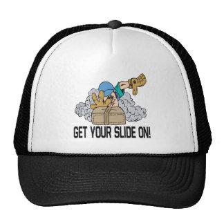 Consiga su diapositiva encendido gorras de camionero