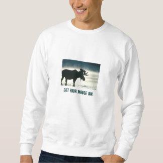 Consiga su En-Camiseta de los alces Sudadera Con Capucha