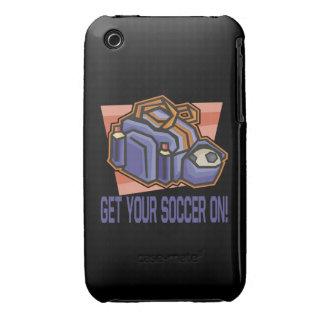 Consiga su fútbol encendido iPhone 3 cárcasas