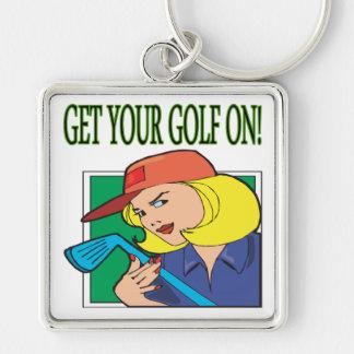 Consiga su golf encendido llavero personalizado